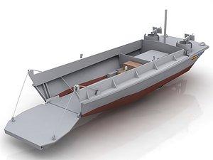 3D LCVP Military Transport Boat