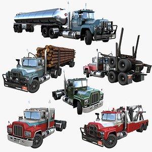 3D trucks pbr mack model