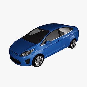 fiesta 2011 sedan 3D model