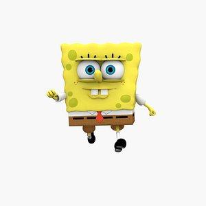 3D model spongebob bob