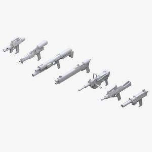3D gundam federation weapon