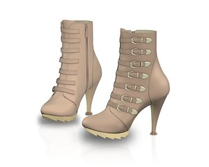 Fashion Ankle Boots 3D model