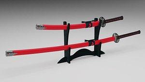 katana sword 3D model