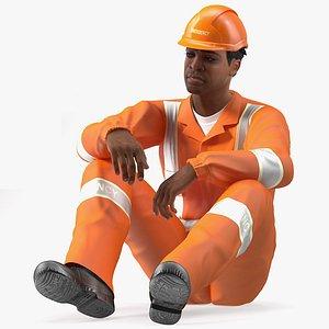 light skin black rescuer 3D