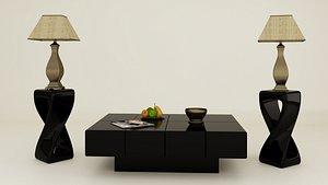 3D black tea table lampshade