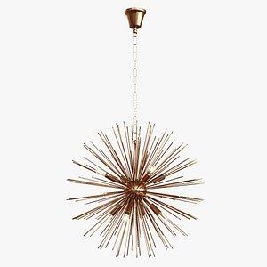 3D Pendant Lamp KARE Beam Brass model