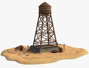 3D Wood Water Tank