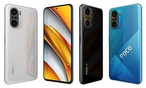 3D Xiaomi Poco F3 All Colors