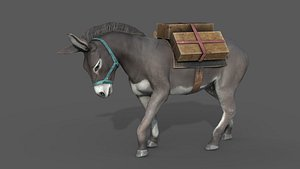DONKEY WITH LOAD 3D model