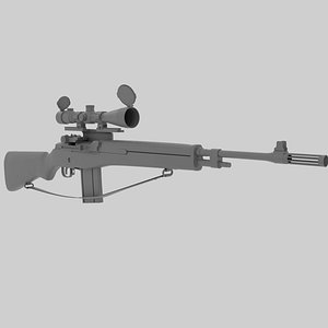 3D model springfield scope