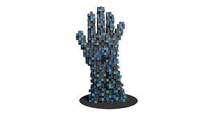 Voxel sculpture hand 3D model