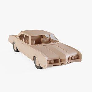 3D 1967 Oldsmobile Delmont 88 model