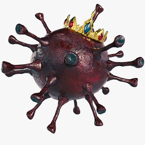 Coronavirus Low Poly Red 3D model