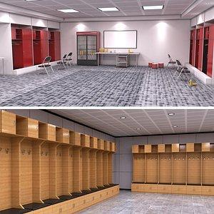 3D Locker Room Collection model