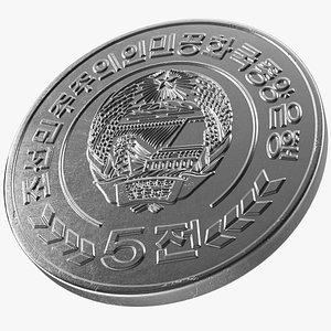 3D North Korea 5 Chon Coin 2008