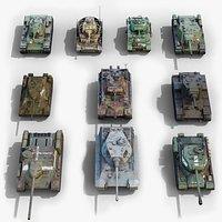 tank ww2 gameready 3D model