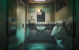 3D model Bathroom Interior for Games