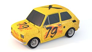 3D Fiat 126 model