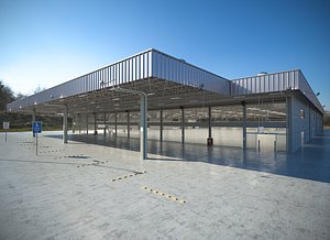 warehouse industrial 3D model