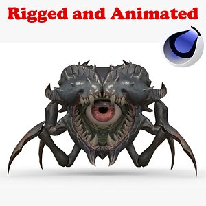 3D Batra Beholder Rigged and Animated