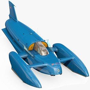 3D Bluebird K7 speedboat