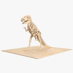 3D t-rex rex laser model