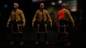 cyberpunk male 3D