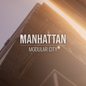 3D Manhattan - Modular City - Unity HDRP