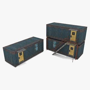 3D polygonal cabin containers - model