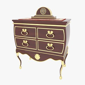 Dresser Victorian 3D model