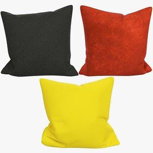 3D model Sofa Pillows Collection V11