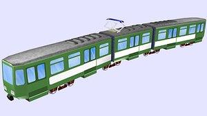 tram light-rail tw 6000 3D model