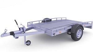 Quad Motor Cargo Trailer 31 3D