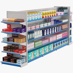 Supermarket Shelves Set 3D model