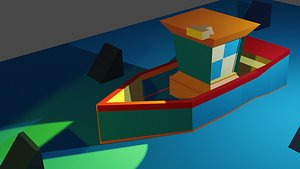 boat ship 3D