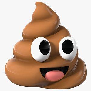 Poop Emoji Smile Big Eyes 3D