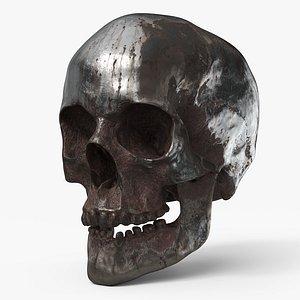 Human Skull  Rusted - PBR 3D model