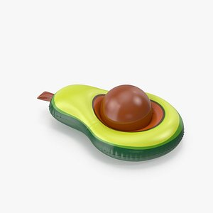 Light Green Avocado Pool Float with a Ball 3D