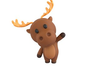 3D Character135 Rigged Moose model