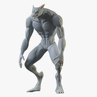 Werefox 3D Print Model