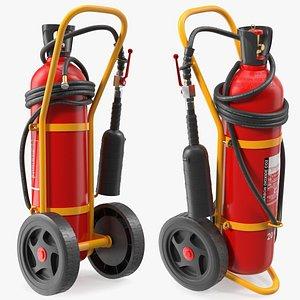 3D co2 wheeled extinguisher 20kg