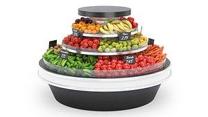 Vegetable Rack with Vegetables 3D model