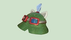 3D Teemo Helmet 05 Normal Camo - Character Fashion Design