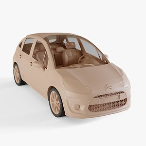 3D Citroen C3 2010 model