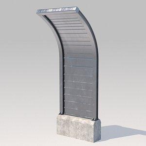 barrer 3D model