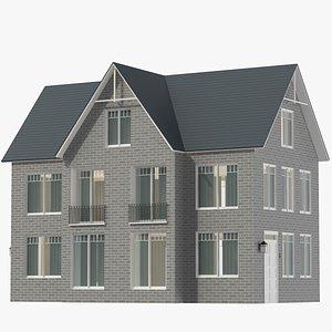 3D Classic House 02 model