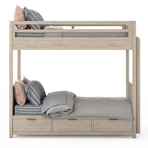 3D rh laguna storage bunk bed
