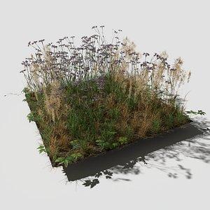 3D Cornflower Meadow Patch