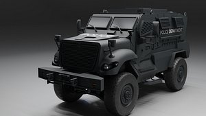 swat vehicle maxxpro 3D model
