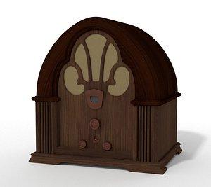 radio vintage 3D